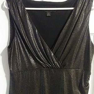 Connected New Gunmetal Dress with slit on side
